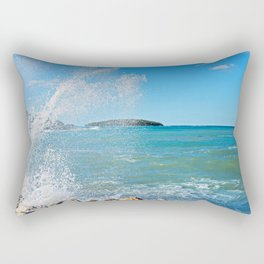 Big wave on the blue sea Rectangular Pillow