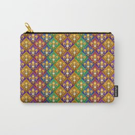 Harlequin Fleur di Lis Diamonds Carry-All Pouch