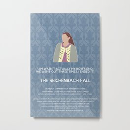 The Reichenbach Fall - Molly Hooper Metal Print