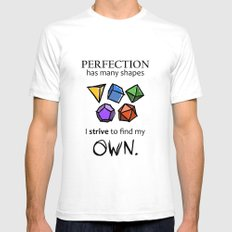 Perfection Mens Fitted Tee SMALL White