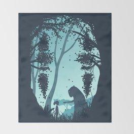 Lonely Spirit Spirited Away Throw Blanket