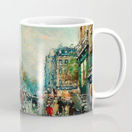 Notre-Dame Cathedral, City Streets of Paris by Antoine Blanchard Coffee Mug