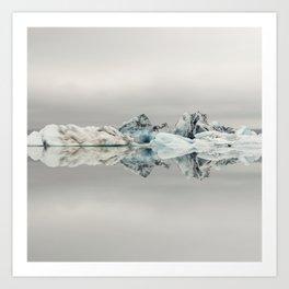 Jokulsarlon Iceland - Minimalist Landscape Photography Art Print