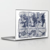 blueprint Laptop & iPad Skins featuring Vigilante Blueprint by Matthew Dunn