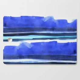 Wave Stripes Abstract Seascape Cutting Board
