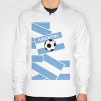 argentina Hoodies featuring Argentina Football by mailboxdisco