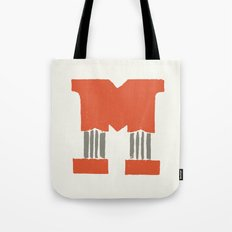 M Lettering Tote Bag