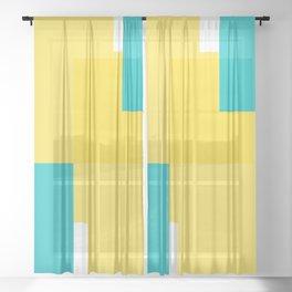Geomeric background Sheer Curtain