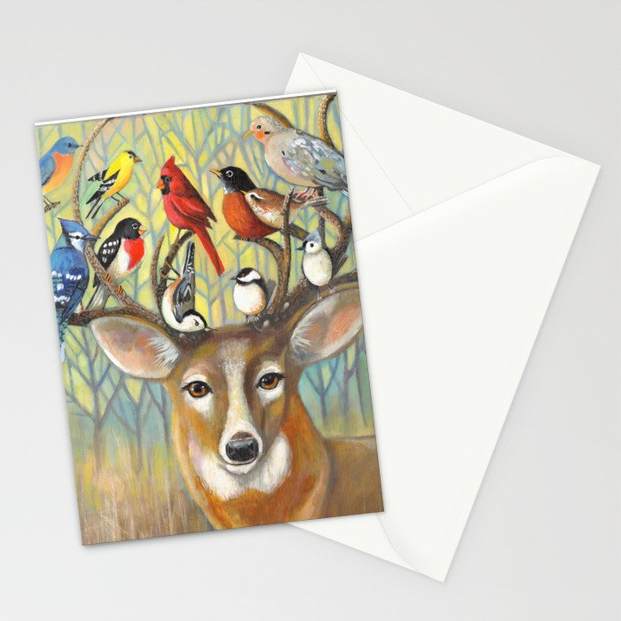 Backyard Friends Stationery Cards