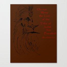 Revelation 5:5 Lion Canvas Print