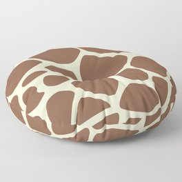 Animal Print (Giraffe Pattern) - Brown Yellow Floor Pillow