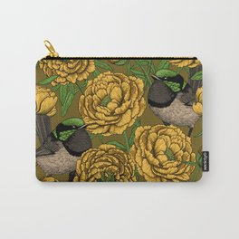 Peonies and wrens Carry-All Pouch
