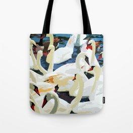Swans on the Lake Tote Bag