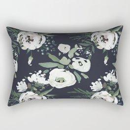 Rustic Floral Print Rectangular Pillow