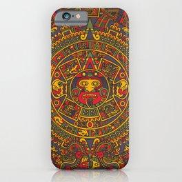 Aztec sun iPhone Case