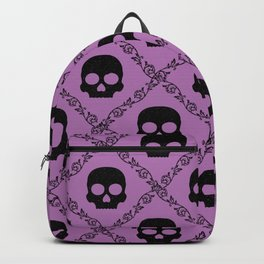 Skulls & Flowers - Lavender Backpack