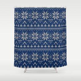 Knitted Scandinavian pattern 2 Shower Curtain