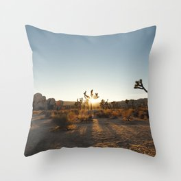 Joshua Tree Sunburst Throw Pillow