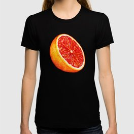 Grapefruit Pattern - Black T-shirt
