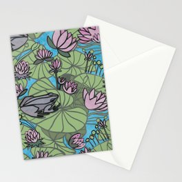 frog and nenuphars Stationery Cards