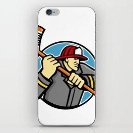 Fireman Ice Hockey Mascot iPhone Skin
