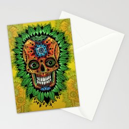 mexican skulls wanna-be (2014) Stationery Cards