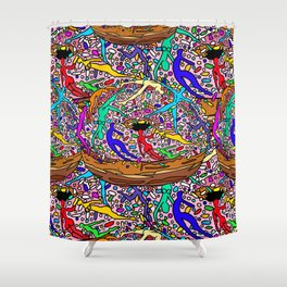 Kamasutra Donut Party Shower Curtain