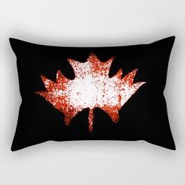 Maple leaf red white Rectangular Pillow