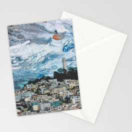 Starry Coit Tower Stationery Cards