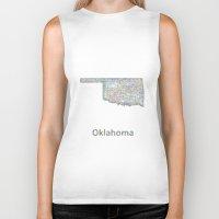 oklahoma Biker Tanks featuring Oklahoma map by David Zydd