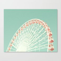 Giant Pastel Ferris Canvas Print