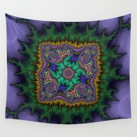 rug Wall Tapestries featuring Fractal Rug by Warwick Wonder Works