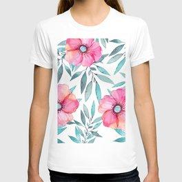 Pink Garden Flowers T-shirt