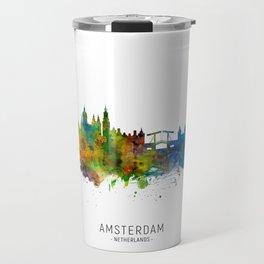 Amsterdam The Netherlands Skyline Travel Mug