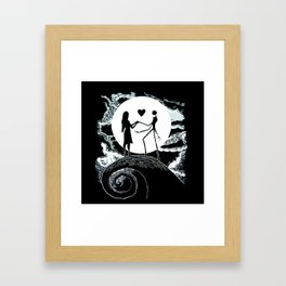 Jack and sally Nightmare Framed Art Print