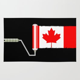 Paint Roller Canada Rug