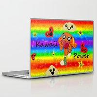 darwin Laptop & iPad Skins featuring Darwin Kawaii Power! by Linda V.