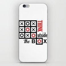 outside the box iPhone & iPod Skin