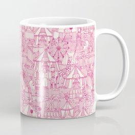 retro circus pink ivory Coffee Mug