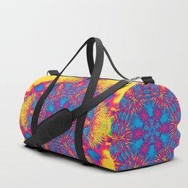 Vibrant thistle mandala Duffle Bag