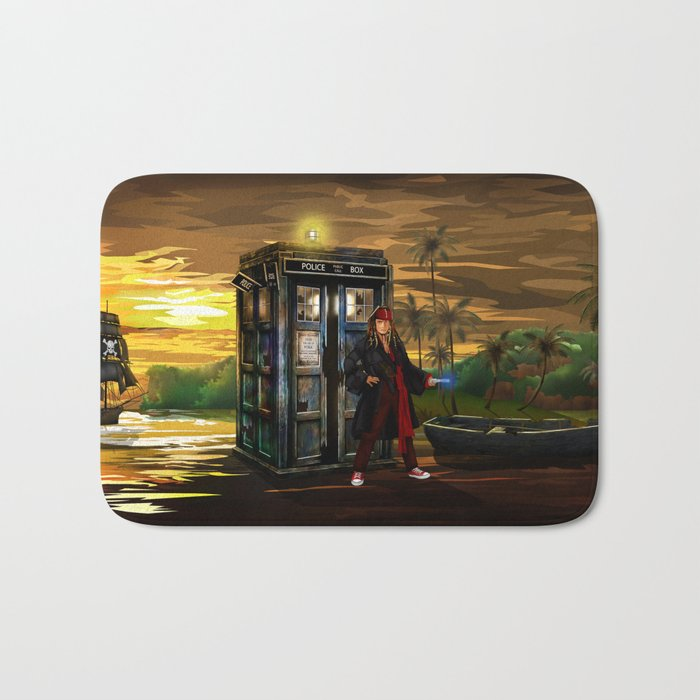 10th Doctor who Lost in the pirates age iPhone 4 4s 5 5s 5c, ipod, ipad, pillow case and tshirt Bath Mat