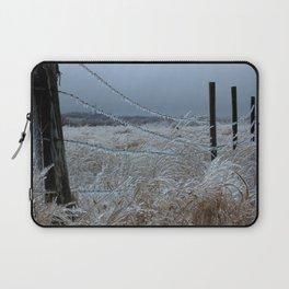 Kansas Icy Fence Laptop Sleeve