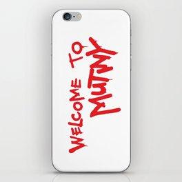 Welcome to Mutiny - Halt & Catch Fire iPhone Skin