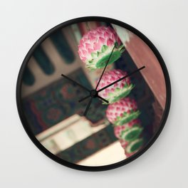 Lotus Lanterns Wall Clock