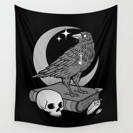 Occult Crow Wall Tapestry