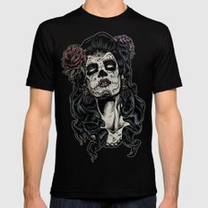 Day of The Dead Woman MEDIUM Mens Fitted Tee Black