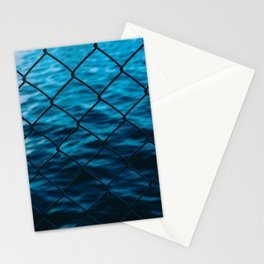 Fence and sea Stationery Cards
