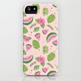 Watermelons on Pink iPhone Case