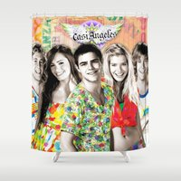 angels Shower Curtains featuring Angels by Venta Directa