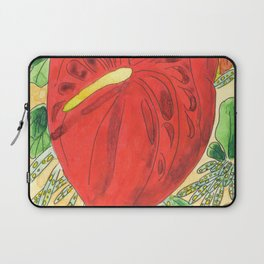 Caribbean flower red Anthurium Madinina Island Laptop Sleeve